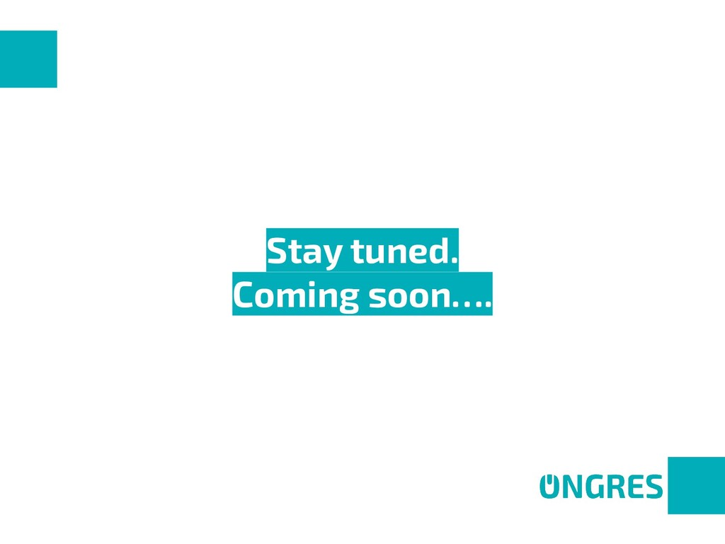 Stay tuned. Coming soon….
