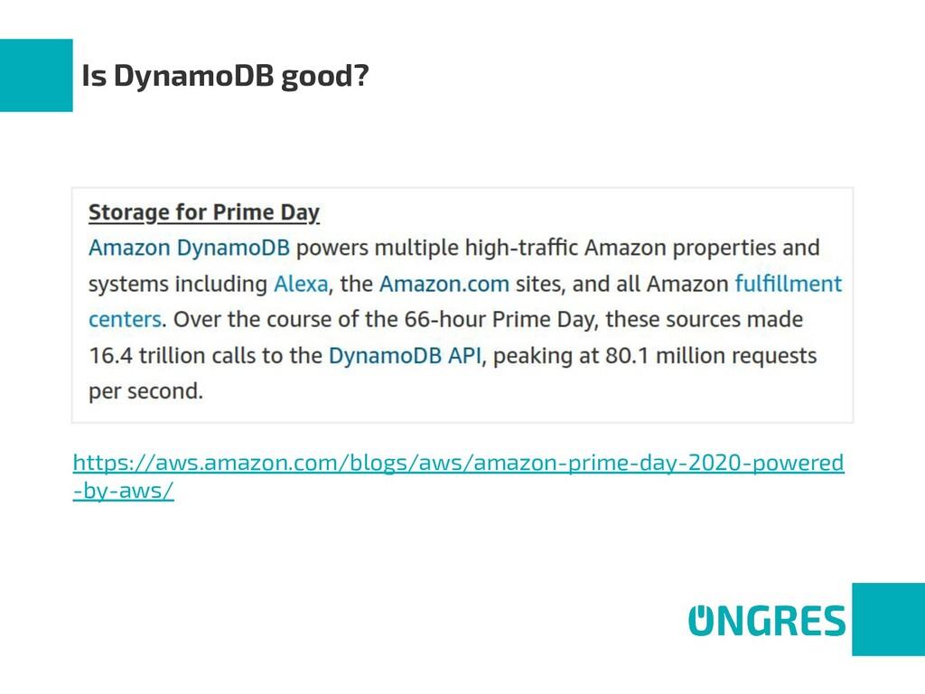 Is DynamoDB good? https://aws.amazon.com/blogs/...