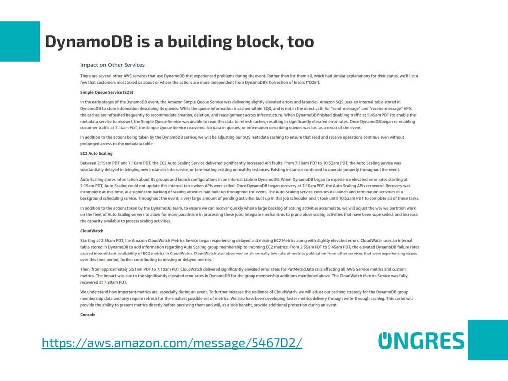 DynamoDB is a building block, too https://aws.a...