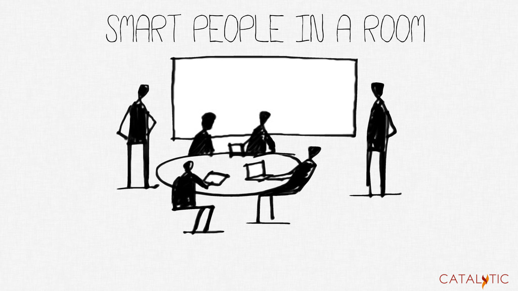 Smart people in a room