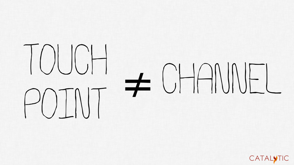 TOUCH POINT ≠CHANNEL