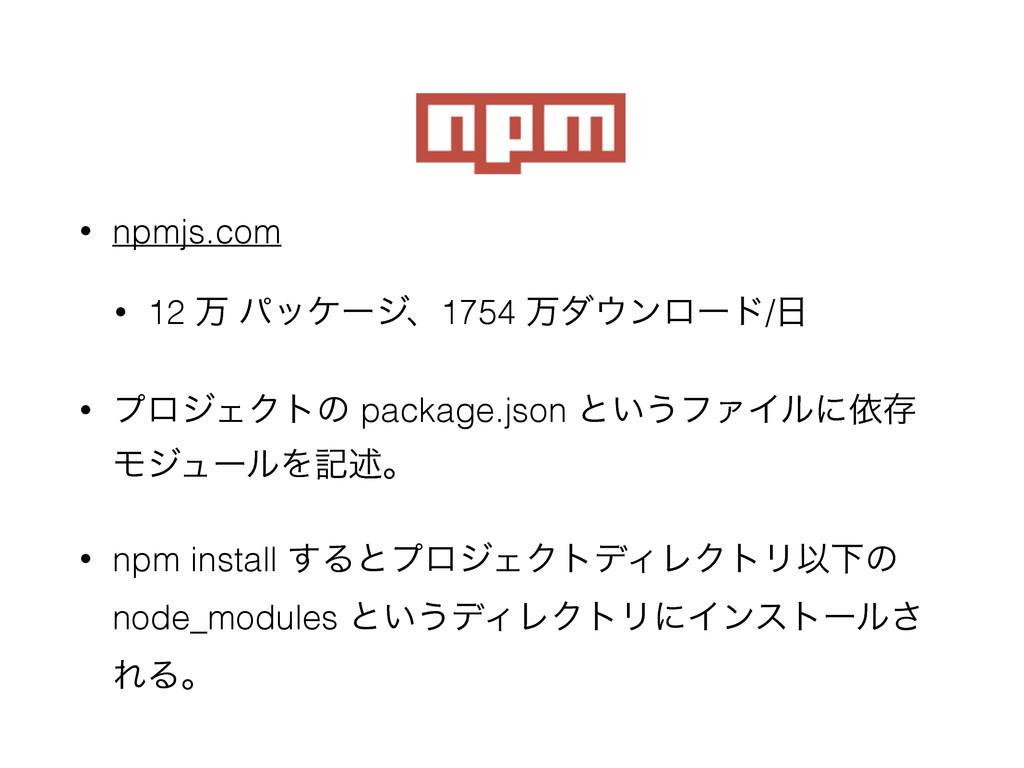 npm • npmjs.com • 12 ສ ύοέʔδɺ1754 ສμϯϩʔυ/ • ϓ...