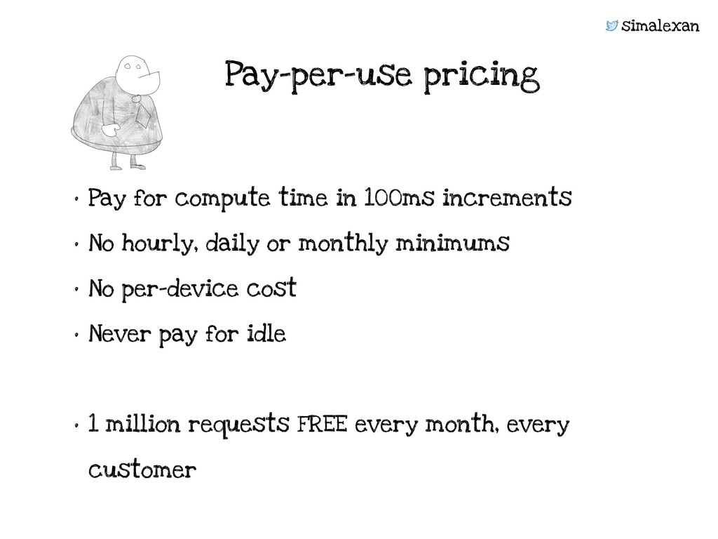 simalexan • Pay for compute time in 100ms incre...