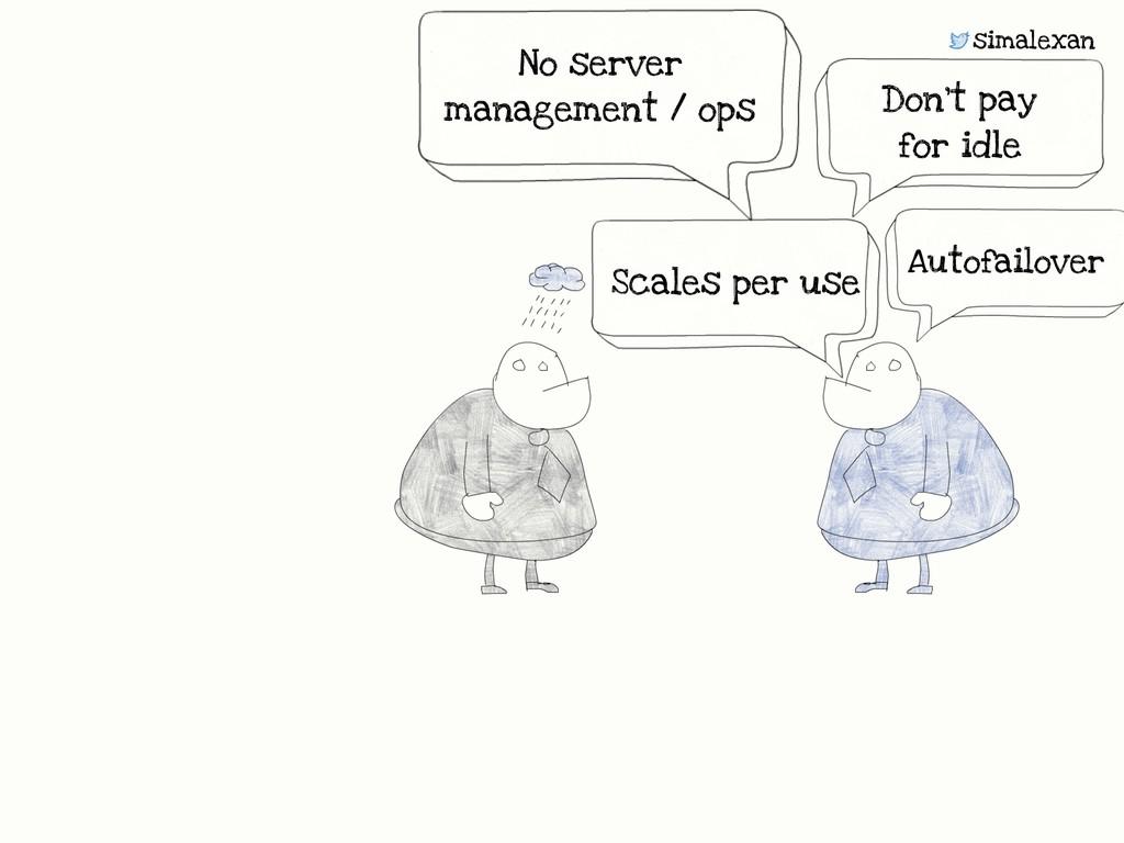 simalexan No server management / ops Scales per...
