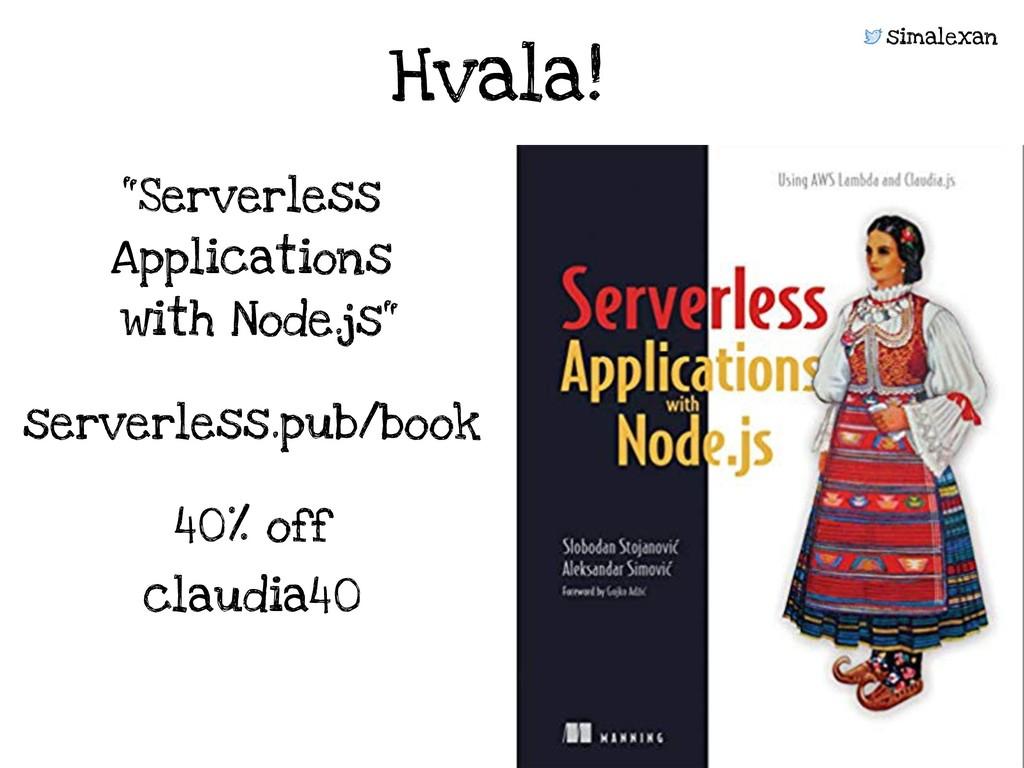 "simalexan serverless.pub/book ""Serverless Appli..."
