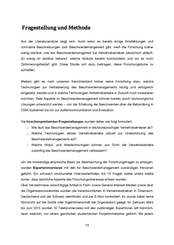 13 Fragestellung und Methode Aus der Literatura...