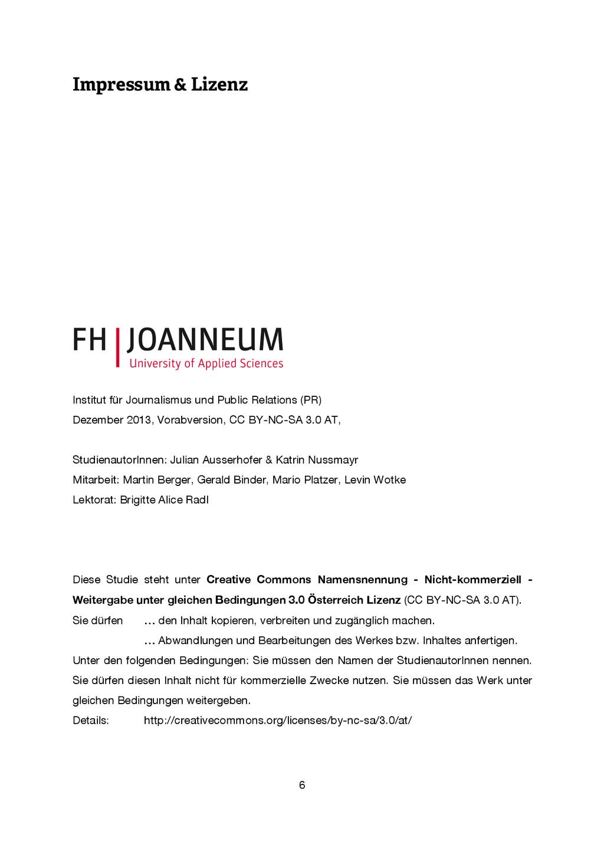 6 Impressum & Lizenz Institut für Journalismus ...