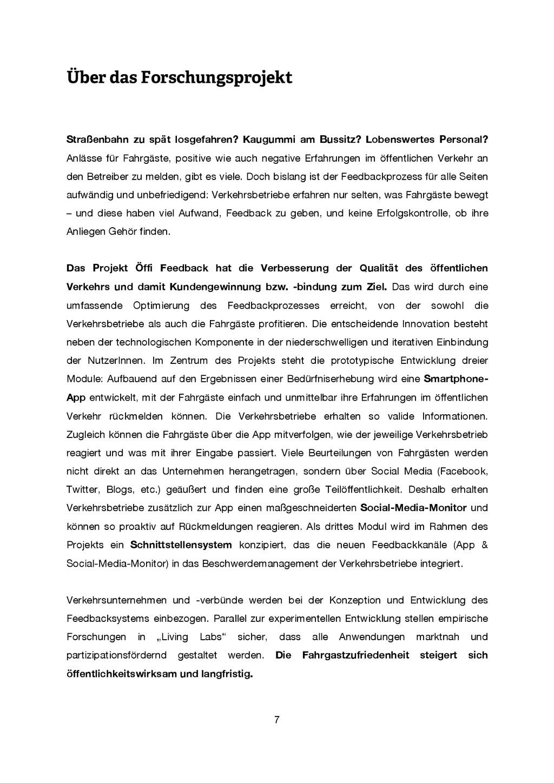 7 Über das Forschungsprojekt Straßenbahn zu spä...