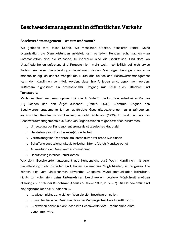 9 Beschwerdemanagement im öffentlichen Verkehr ...