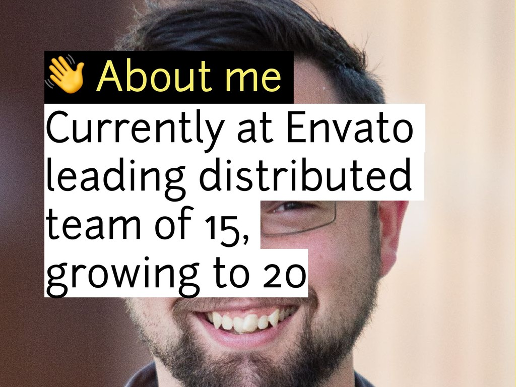 ! About me Currently at Envato leading distribu...