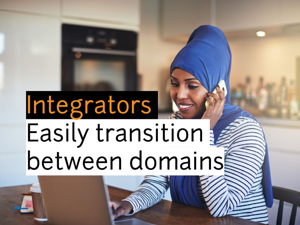 Integrators Easily transition between domains