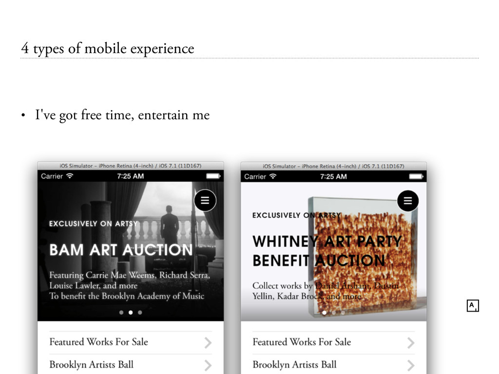 4 types of mobile experience • I've got free ti...