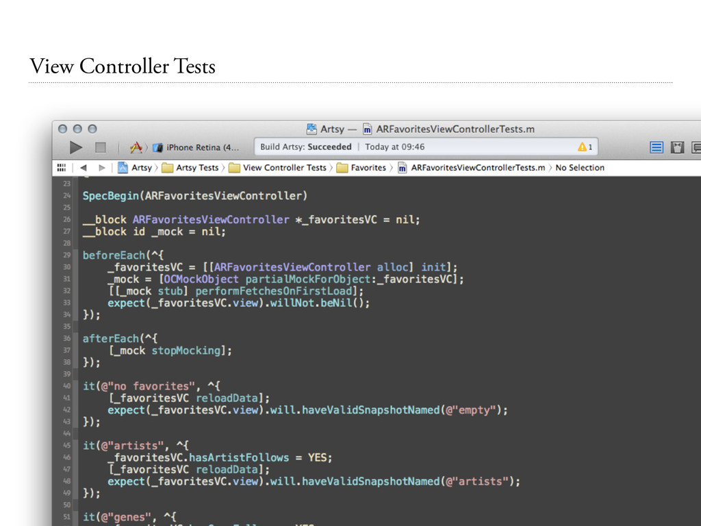 View Controller Tests