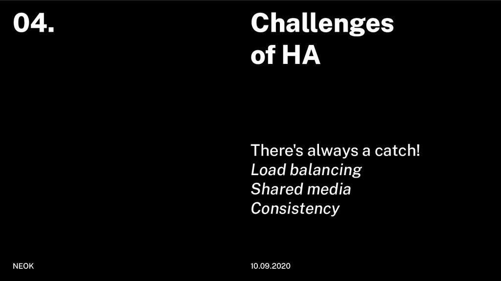 Challenges of HA There's always a catch! Load b...