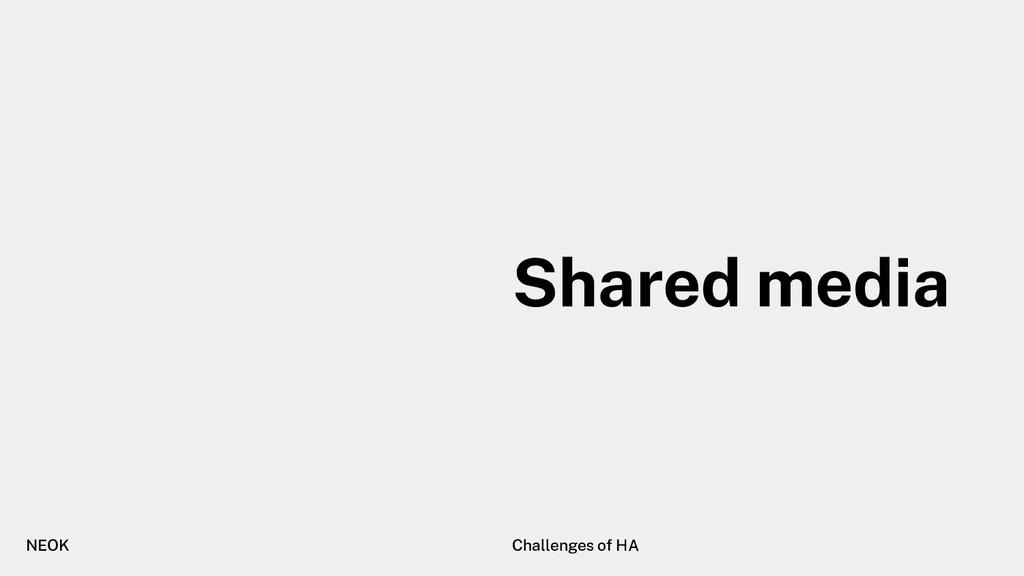 NEOK Challenges of HA Shared media