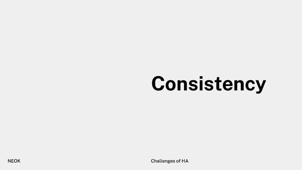 NEOK Challenges of HA Consistency