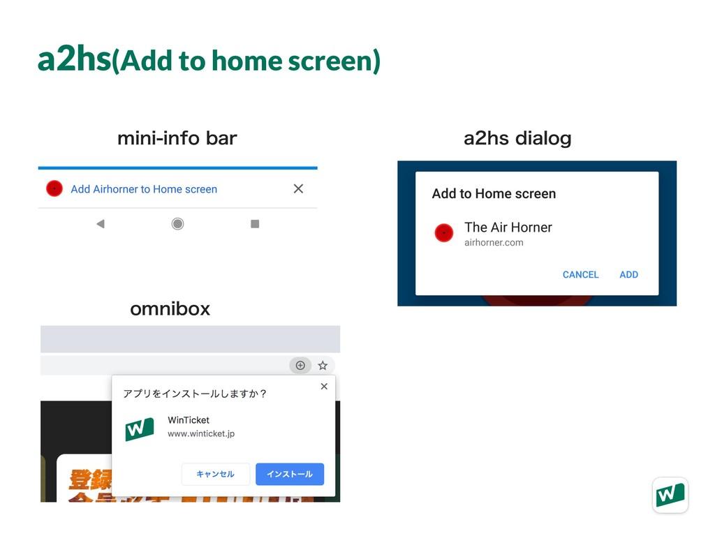a2hs(Add to home screen) NJOJJOGPCBS BITEJB...