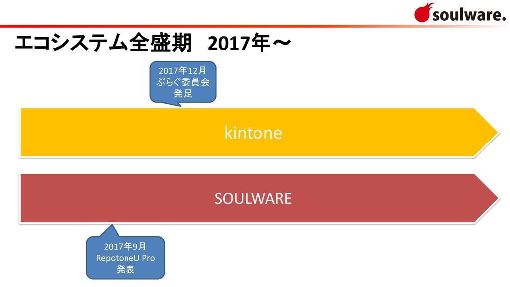 kintone SOULWARE エコシステム全盛期 2017年~ 2017年12月 ぷらぐ委...