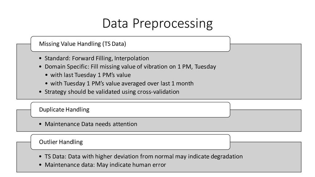 • Standard: Forward Filling, Interpolation • Do...