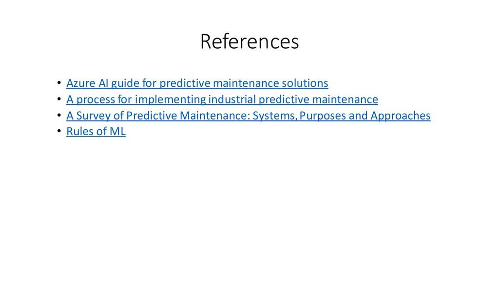 References • Azure AI guide for predictive main...
