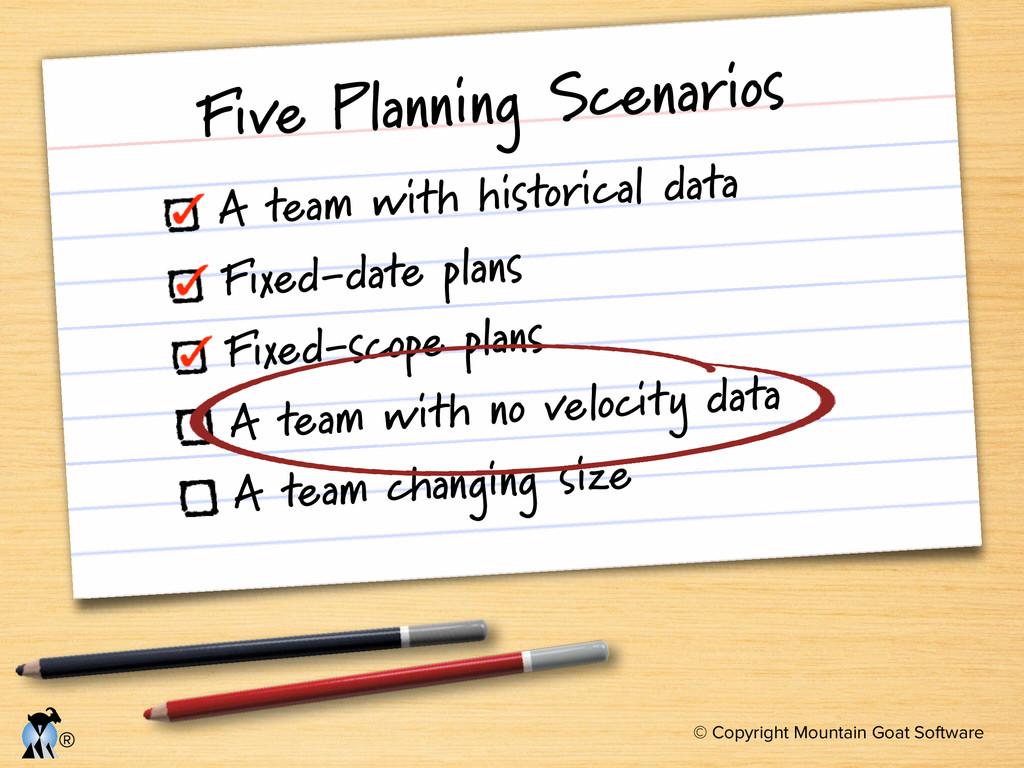 © Copyright Mountain Goat Software ® Five Plann...