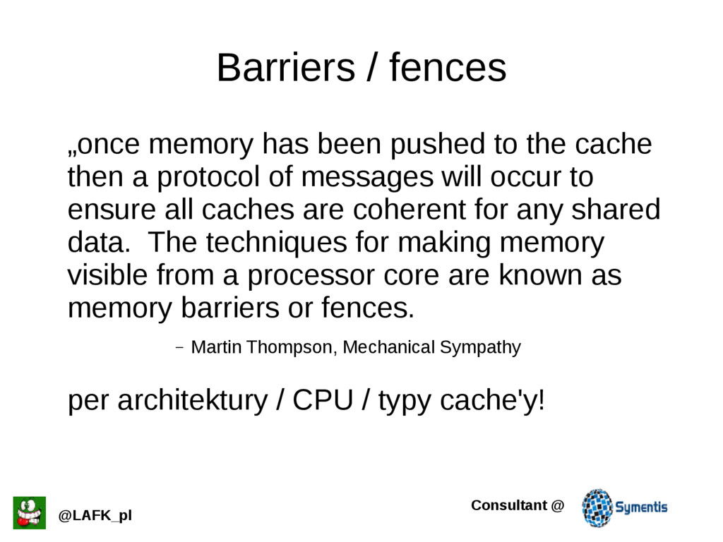 """Barriers / fences """"once memory has been pushed ..."""