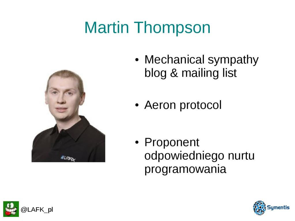 Martin Thompson ● Mechanical sympathy blog & ma...