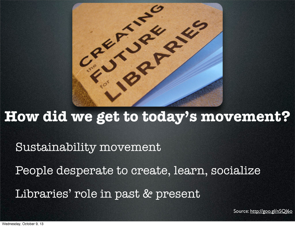 How did we get to today's movement? Sustainabil...