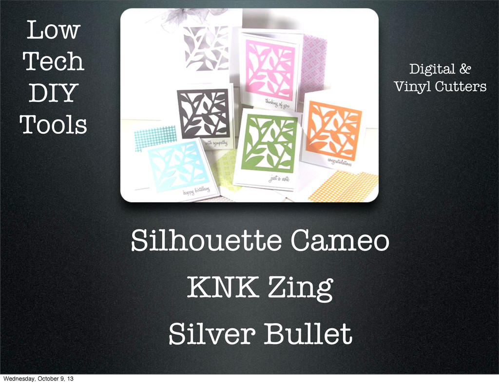 Low Tech DIY Tools Silhouette Cameo KNK Zing Si...