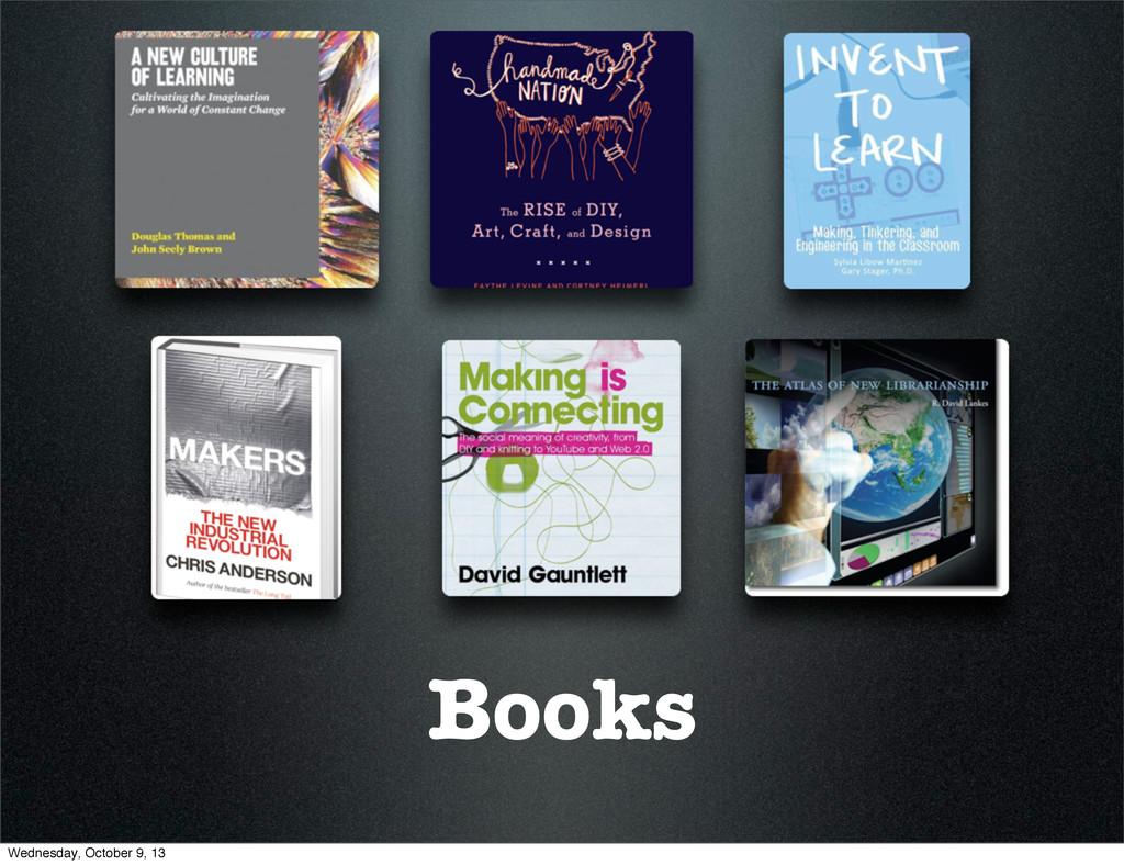Books Wednesday, October 9, 13