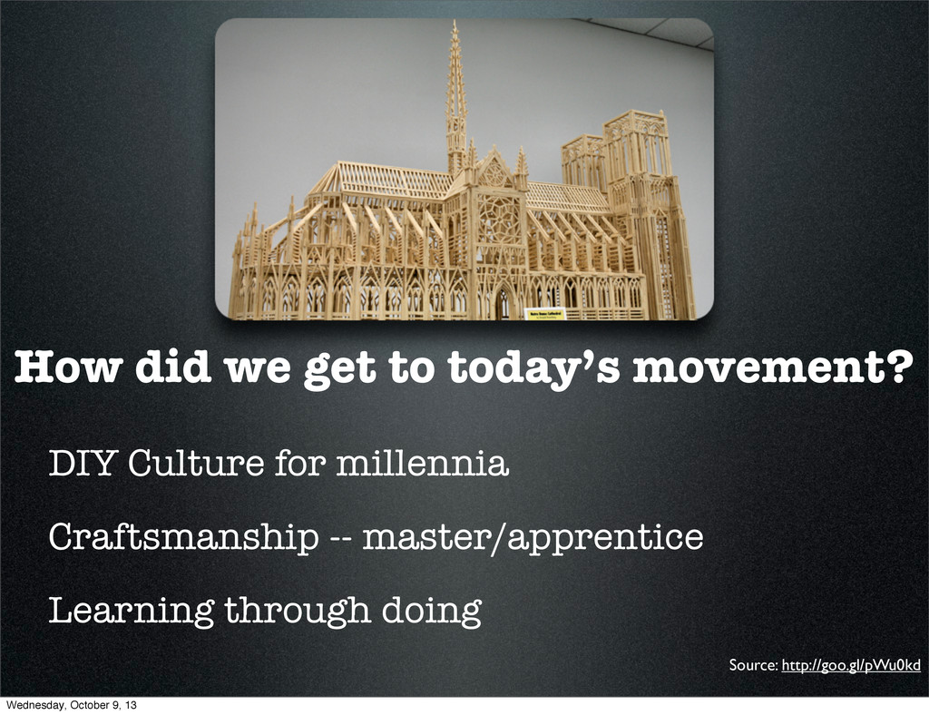 How did we get to today's movement? DIY Culture...