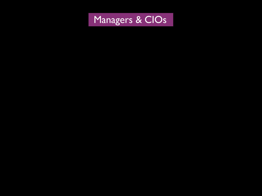 Managers CIOs &