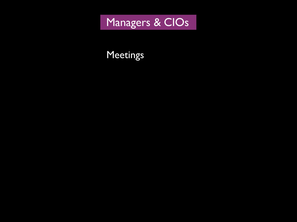 Managers CIOs & Meetings