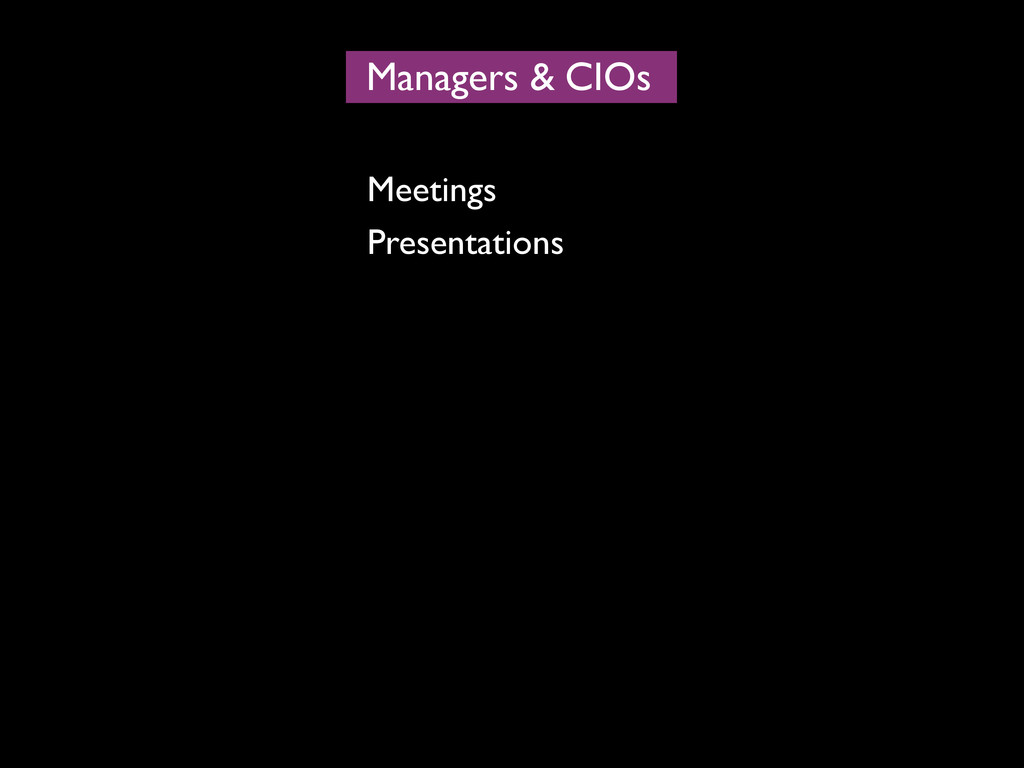 Managers CIOs & Meetings Presentations