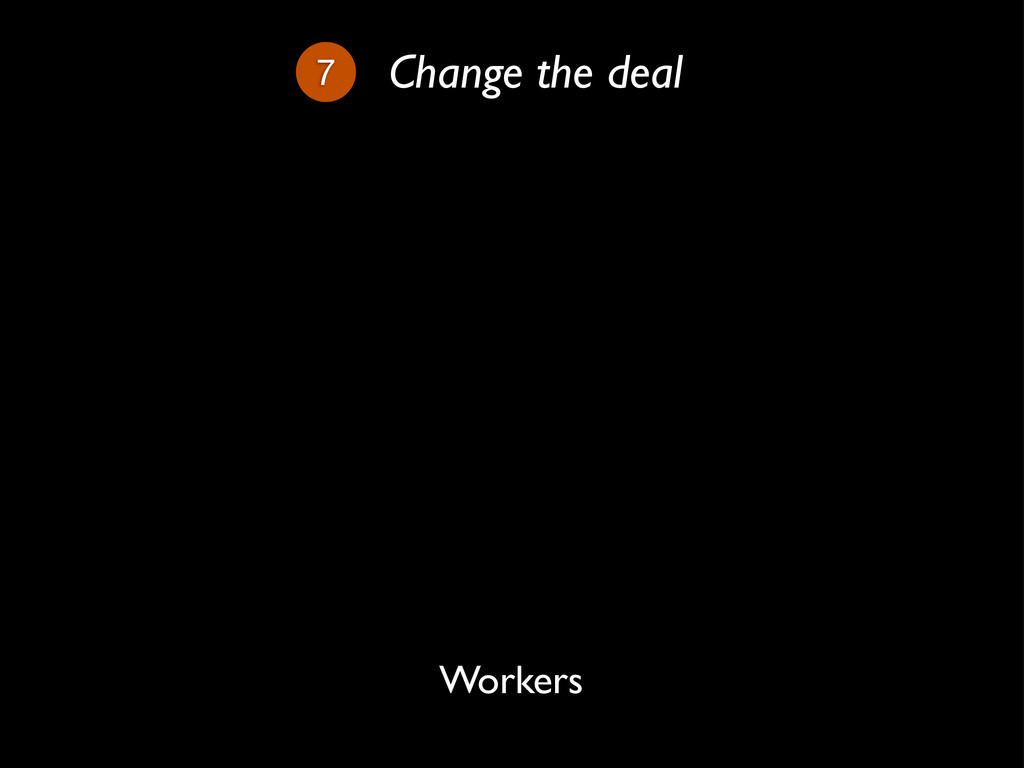 7 Change the deal Workers