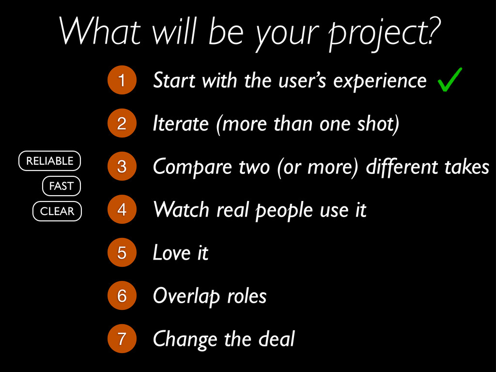 What will be your project? Iterate (more than o...