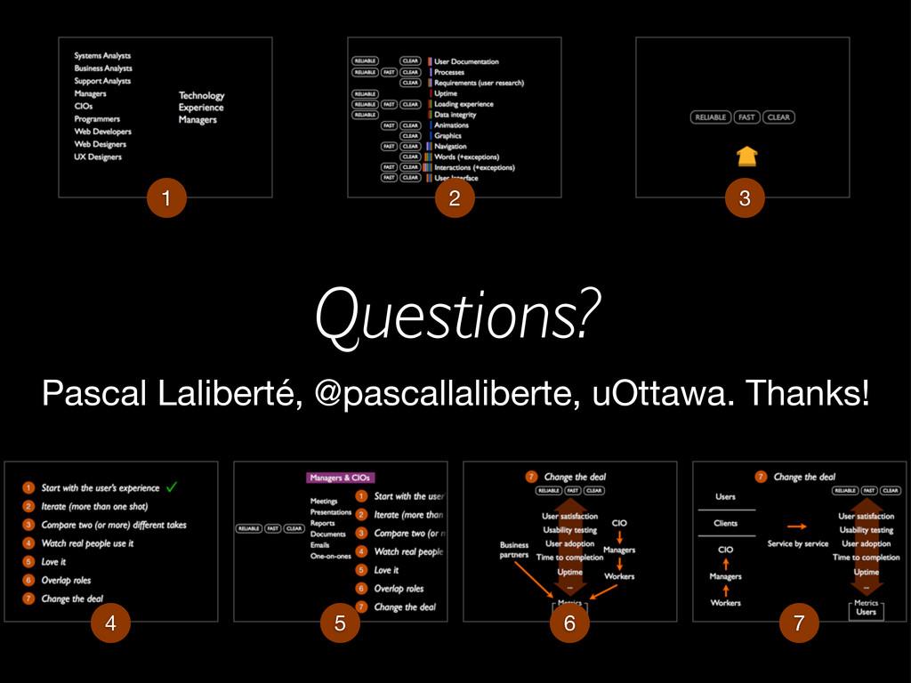 Questions? 1 2 3 Pascal Laliberté, @pascallalib...