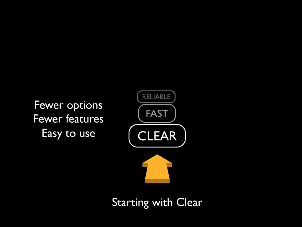 Easy to use Fewer options Fewer systems Fewer f...