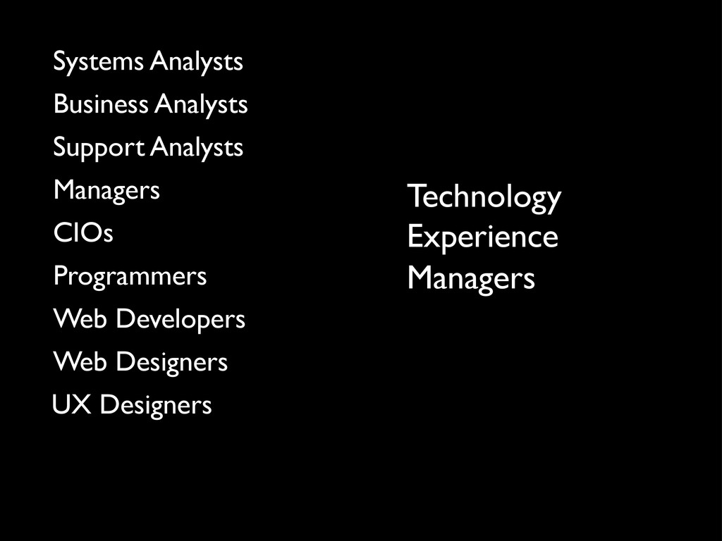 Technology Managers Experience UX Designers Web...