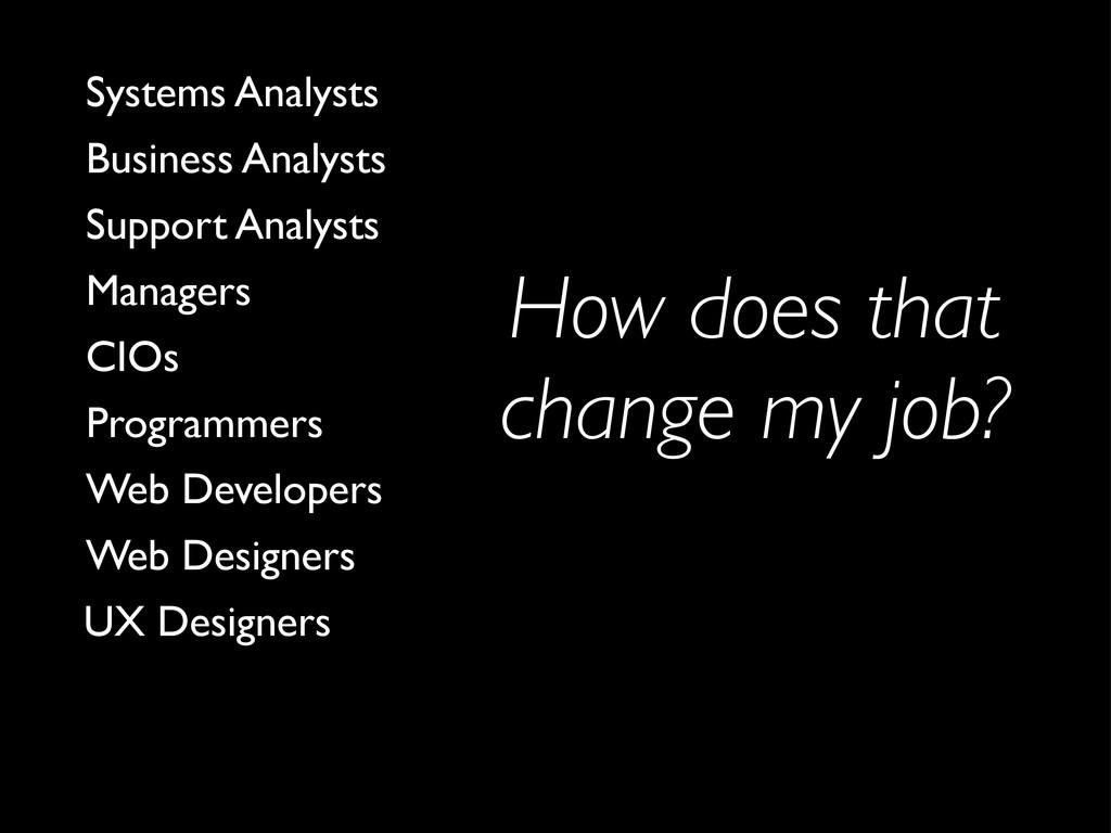 How does that change my job? UX Designers Web D...