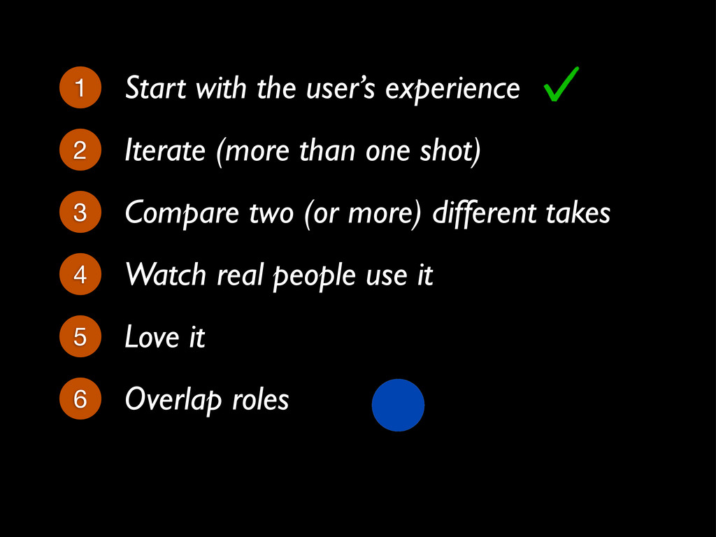 Iterate (more than one shot) 2 1 Start with the...