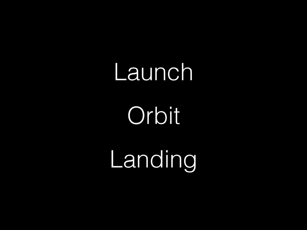 Launch Orbit Landing