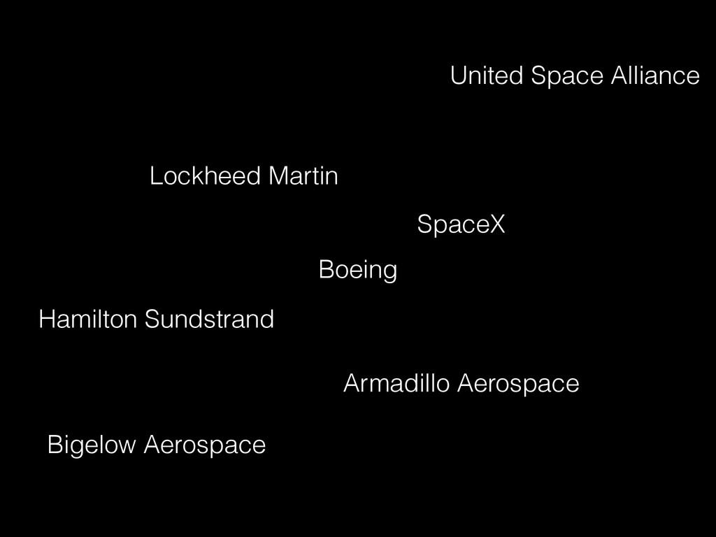 Boeing Lockheed Martin United Space Alliance Sp...