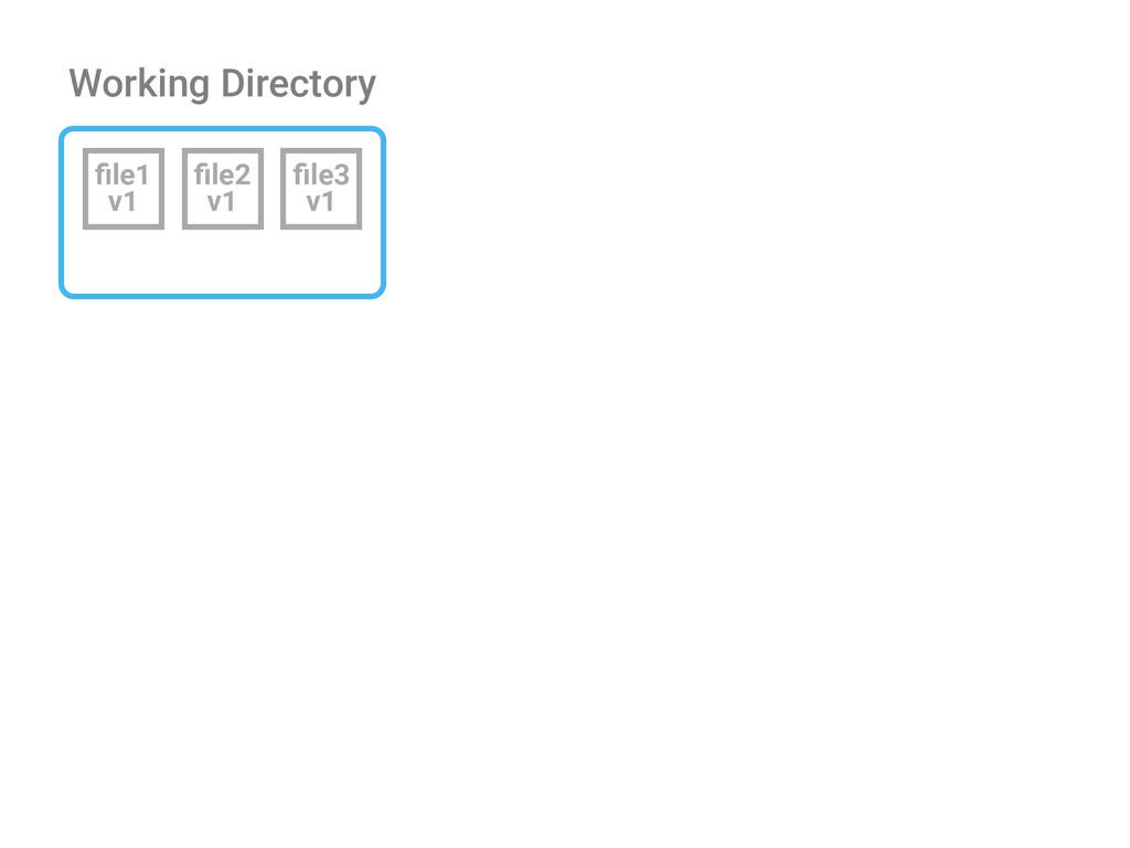Working Directory file1 v1 file2 v1 file3 v1