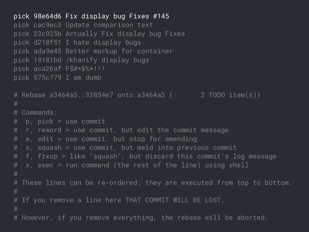 pick 98e64d6 Fix display bug Fixes #145 pick ca...