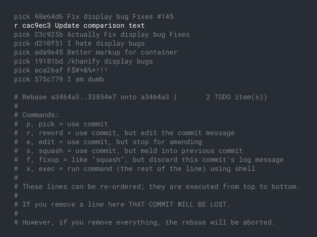 pick 98e64d6 Fix display bug Fixes #145 r cac9e...