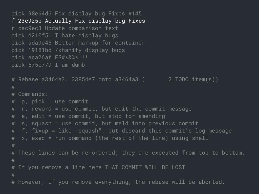 pick 98e64d6 Fix display bug Fixes #145 f 23c92...