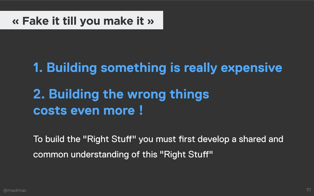 """@madmac 111 To build the """"Right Stuff"""" you must..."""