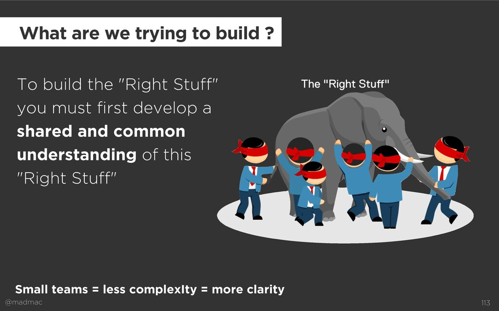 """@madmac 113 To build the """"Right Stuff"""" you must..."""