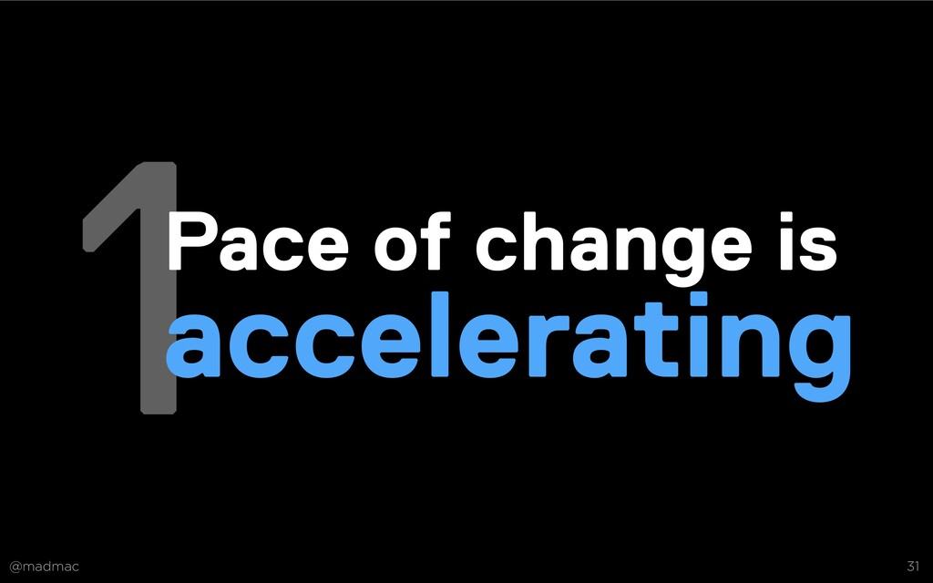 @madmac 31 1Pace of change is accelerating